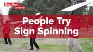BuzzFeed Tries Sign Spinning post cover image
