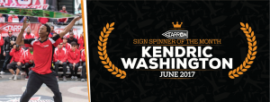 Kendric Washington Awarded Spinner of the Month For June post cover image