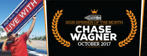 Chase Wagner Announced as October's Spinner of the Month post cover image
