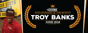 Troy Blanks is named June Spinner of the Month post cover image