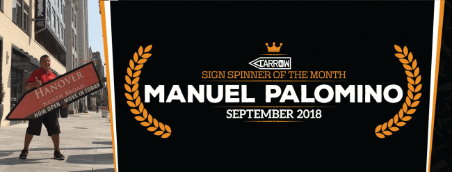Manuel Palomino Sign Spinner