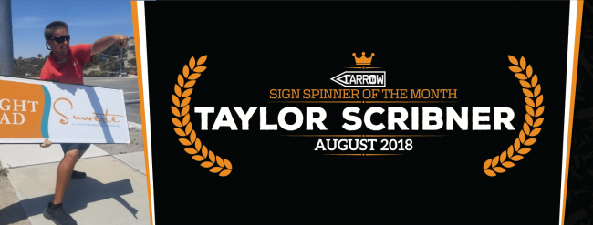 Sign Spinner Tylor Scribner