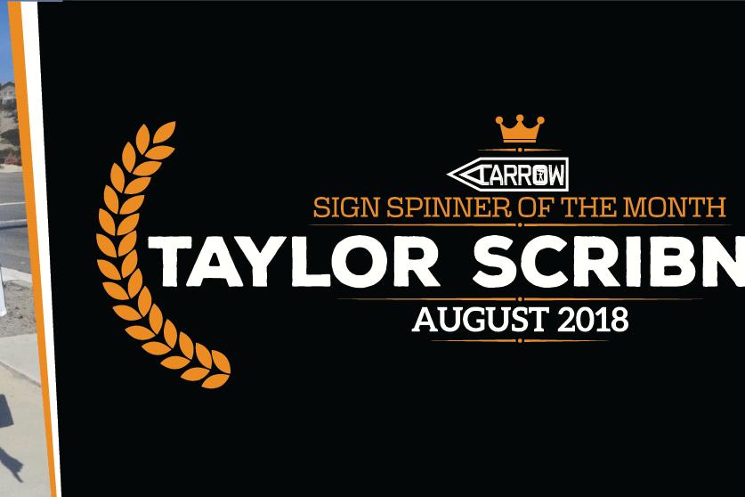 Sign Spinner Tylor Scribner