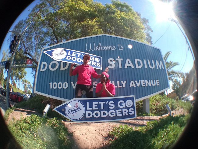 Sign Spinner for Dodgers