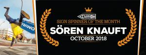 Sören Knauft named October Spinner of the Month! post cover image