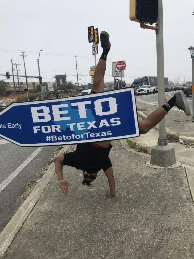 Sign Spinner for Beto For Texas
