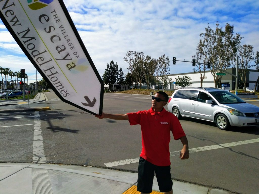 Home Builder Sign Spinners