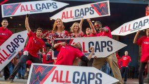 Washington Capitals Sign Spinning