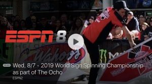 Sign Spinner Dream: ESPN streaming the 2019 WSSC, AGAIN! post cover image