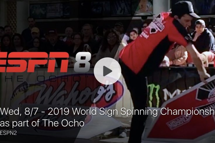 World Sign Spinning Championships on ESPN