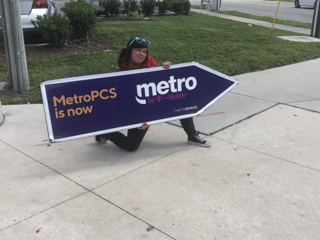 Sign Spinning for Metro PCS