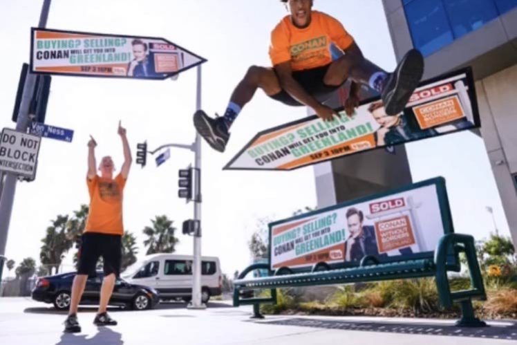 AArrow Sign Spinners Spin For Conan