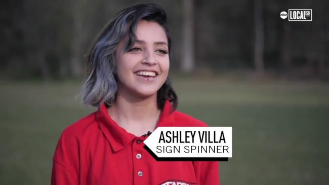Ashley Villa Sign Spinner