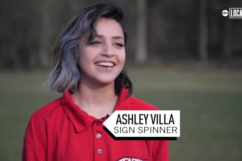 Ashley Villa Sign Spinner
