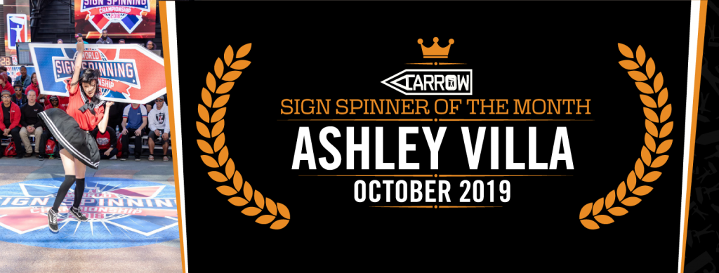 Ashley is sign spinner of the month