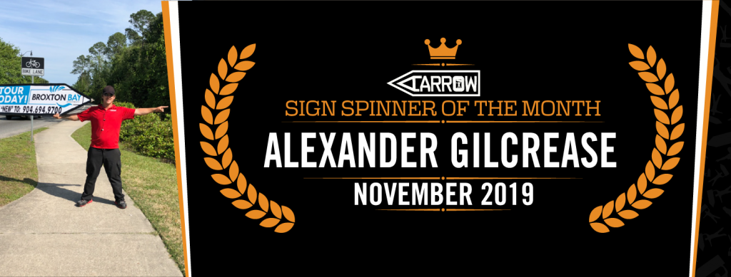 Alex Sign Spinner of the Month