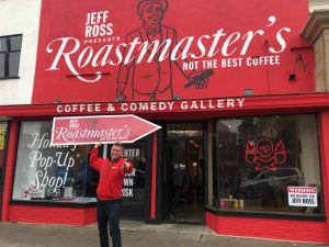 Jeff Ross opened a pop-up coffee shop and used sign spinning to get the word out! post cover image