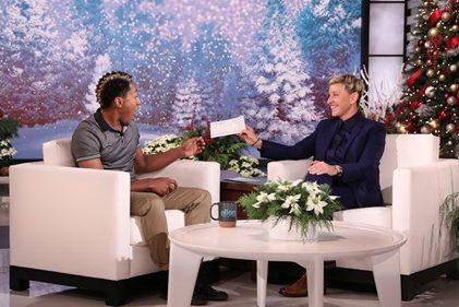 Ellen Surprises one lucky sign spinner