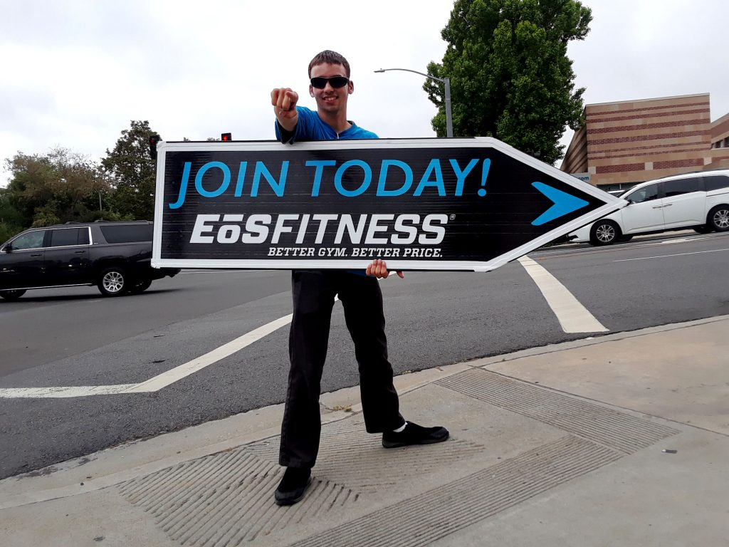 Gym Sign Spinner Eos Fitness
