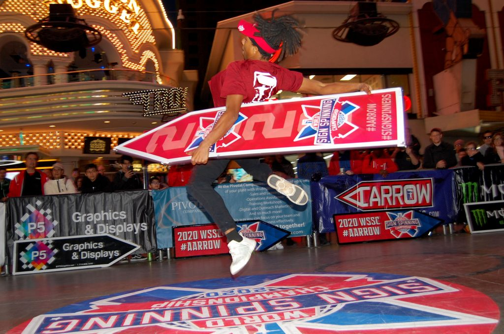 2020 World Sign Spinning Champion Kendric Getting Big Air