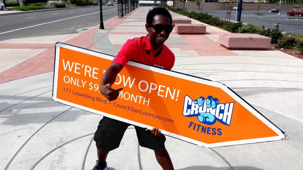 Gym Sign Spinner Crunch Fitness