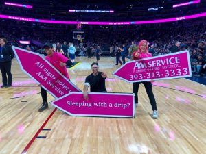AAA Service Sign Spinners at Denver Nuggets Half-Time Show! post cover image
