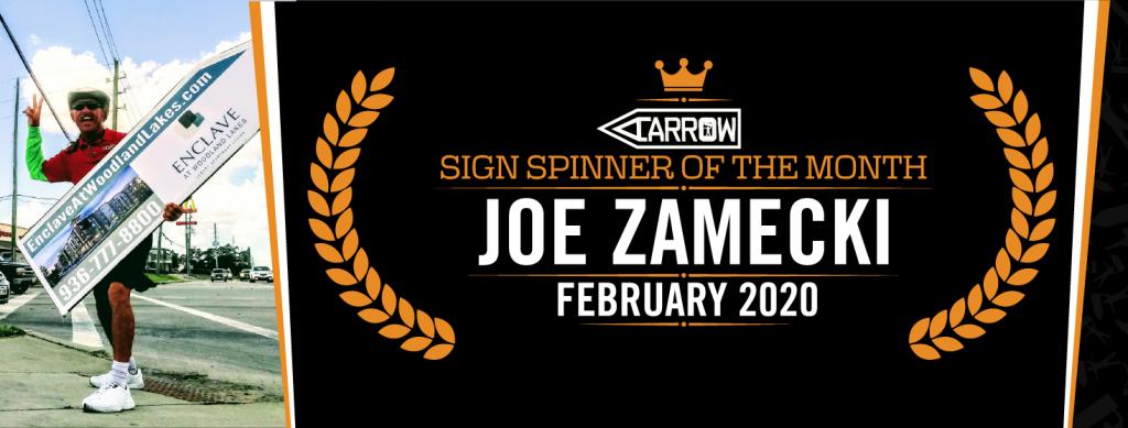 Joe February 2020 Sign Spinner of the Month