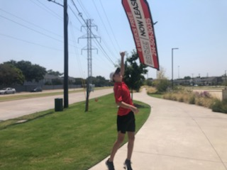 August 2020 Sign Spinner of the Month, Parker Parrot!