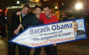 Sign Spinners for Obama