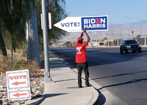 Sign Spinners influence turnout in 2020 Election