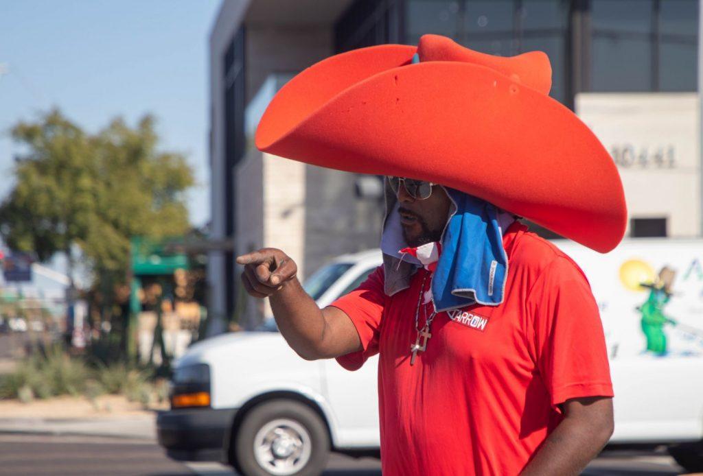 Shamon Cowboy Hat Sign Spinner in Phoenix