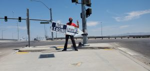 Jeffrey Overweg November Sign Spinner Las Vegas