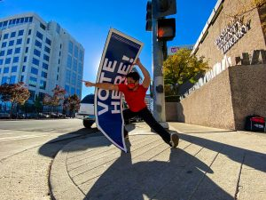 Sacramento Sign Spinners Promoting Early Voting in Reno!