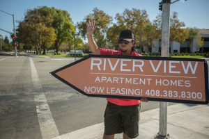 Sign Spinners for San Jose Apartments