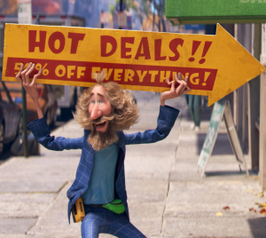 Pixar's Soul has a sign spinner! post cover image