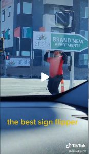 Las Vegas Viral Sign Spinner post cover image