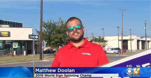 Dallas Sign Spinner on CBS 11! post cover image